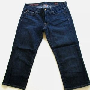 J Crew Hip Slung Cropped Jeans